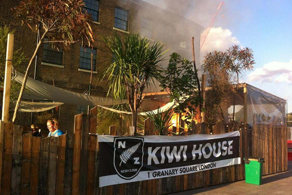 The fire at Kiwi House in London.