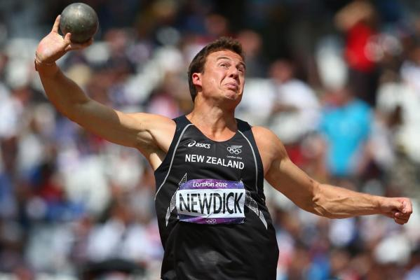 New Zealand's Brent Newdick competes in the men's decathlon shot put at the London 2012 Olympic Games.