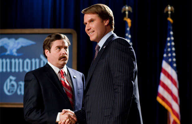 ELECTION FATIGUE: Zack Galifianakis, left, and Will Ferrell, right, in The Campaign, that has occasional flashes of real wit.
