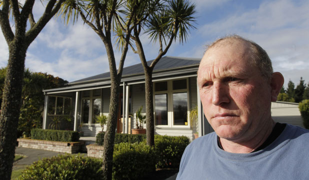 FINGERS CROSSED: Brooklands red-zone resident Stephen Bourke has applied to Cera to have his land designation reviewed in the hope of going green.