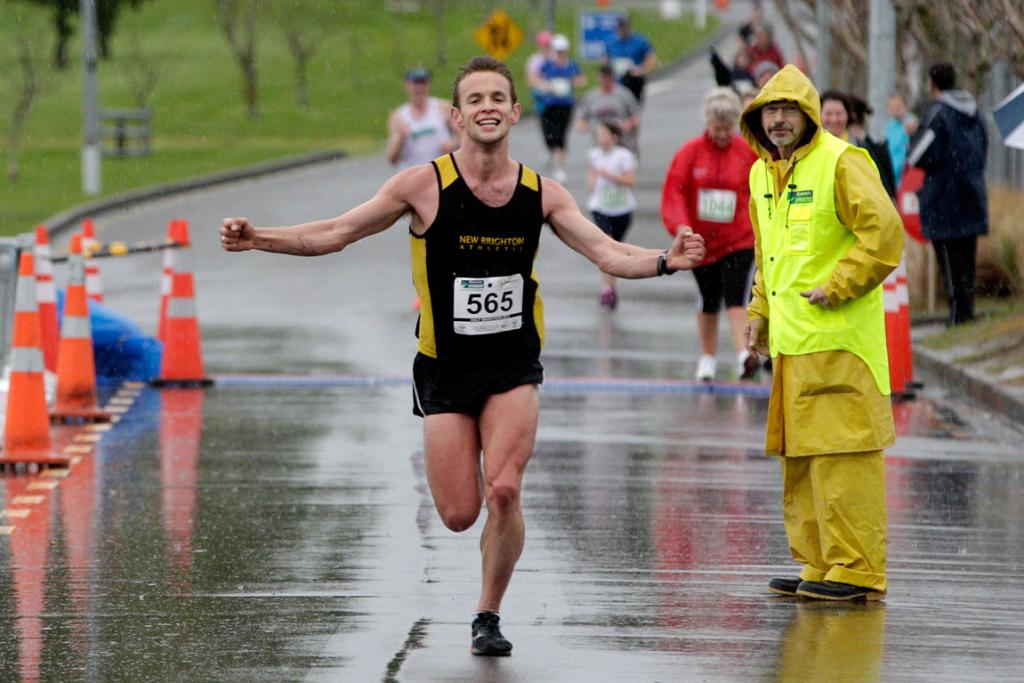 Competitors braved the rain and mud to compete in yesterday's half marathon in Palmerston North.