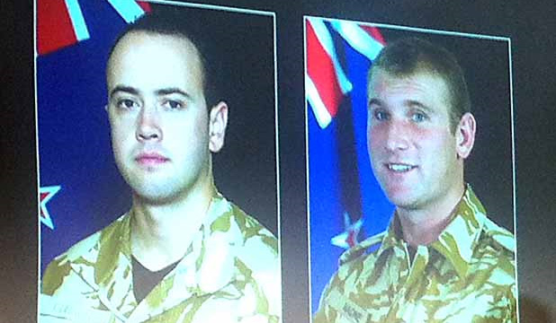 Lance Corporal Pralli Durrer and Lance Corporal Rory Malone