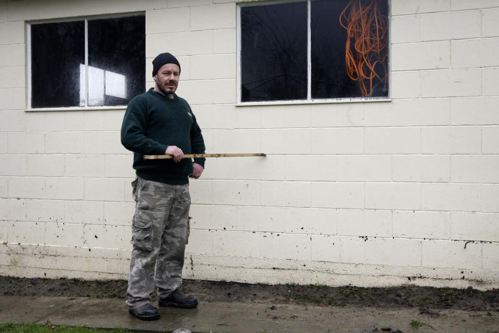 UNDERWATER: David Wade's property was badly affected by the massive rainfall in Timaru on August 8.