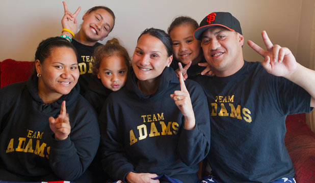 Valerie Adams' family
