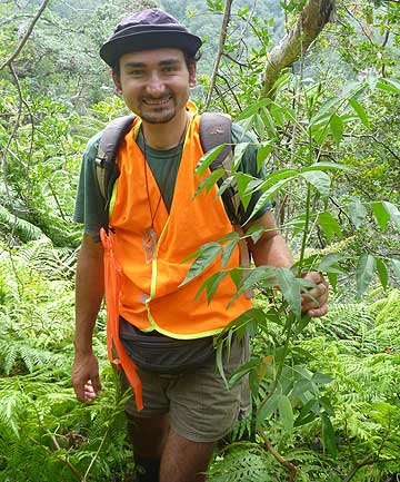 LOST: Department of Conservation volunteer Mihai Muncus-Nagy.