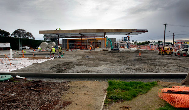 NEARLY DONE: The Z service station in Sanson should be ready to pump petrol from August 27. The town has been without a petrol station for three months while the former Shell station was torn down and rebuilt as a Z.