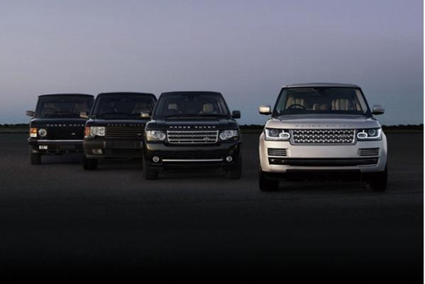 A selection of Range Rovers through to the 2013 model at right.