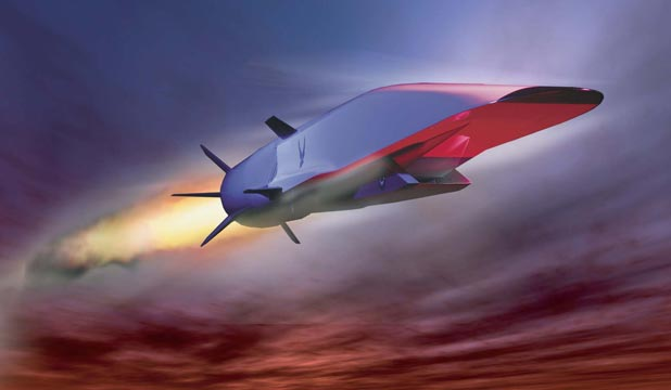 HYPERSONIC: An artist's impression of the X-51A Waverider in flight.