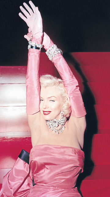 CRAZY DIAMOND: Marilyn Monroe in Gentlemen Prefer Blondes.