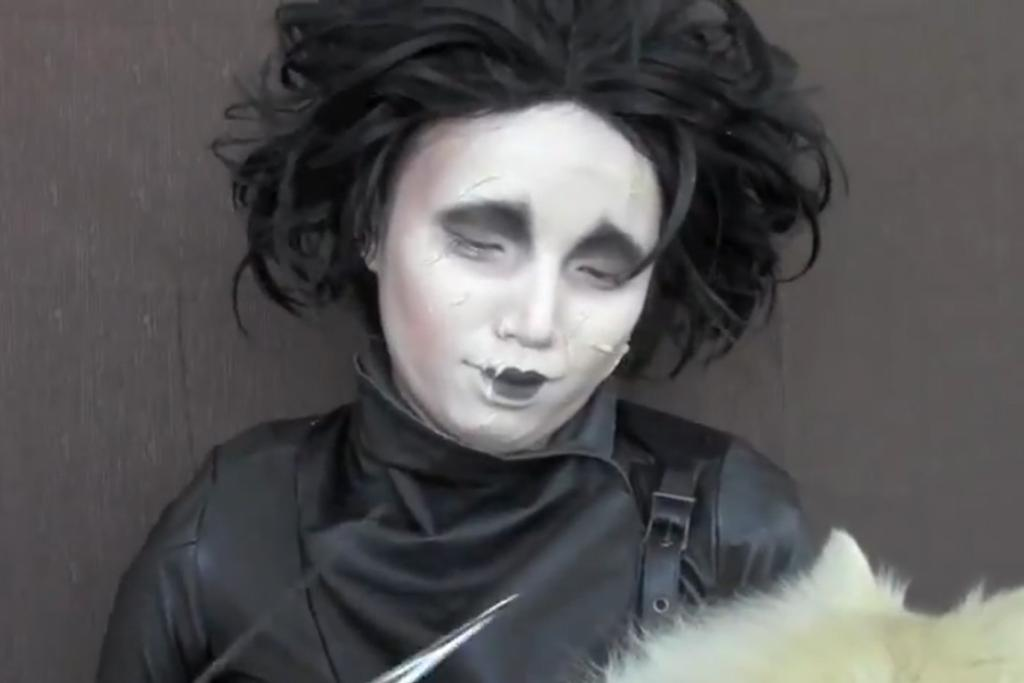 Promise Tamang Phan as Edward Scissorhands.