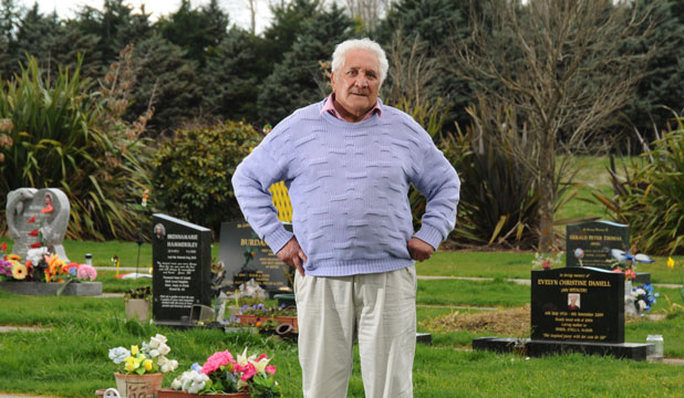 CEMETERY THEFT: Alex Tairoa was visiting his wife's grave at Riverside cemetery in Masterton when his car was stolen.