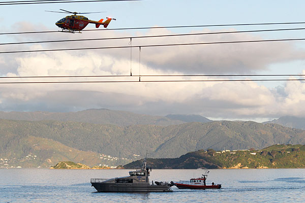 Wellington harbour rescue