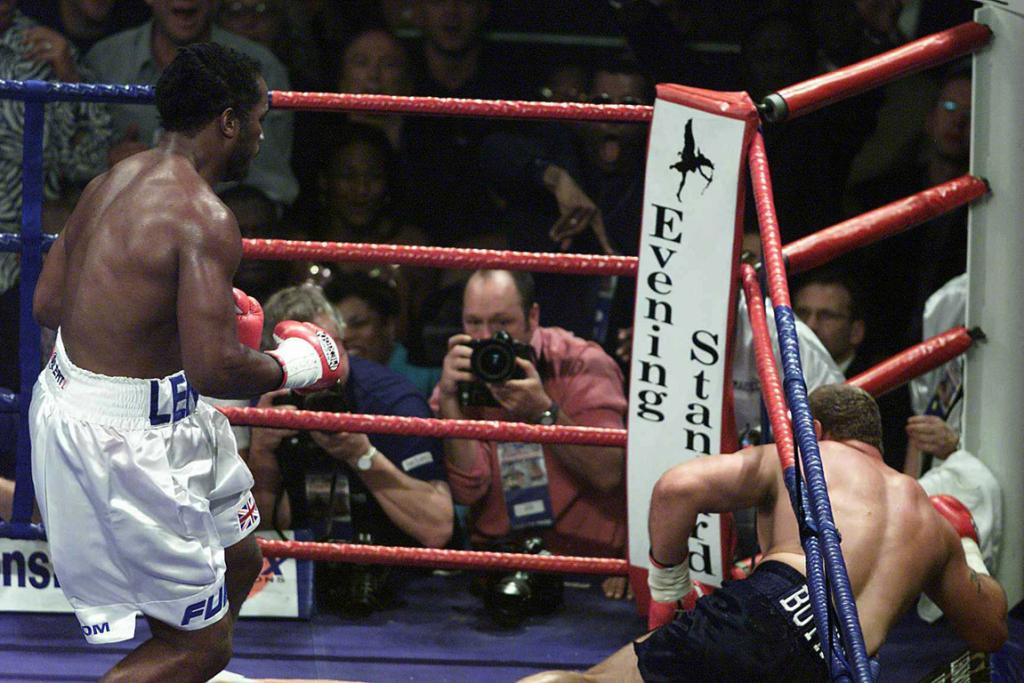 Lennox Lewis delivers another knockout punch to Francois Botha.