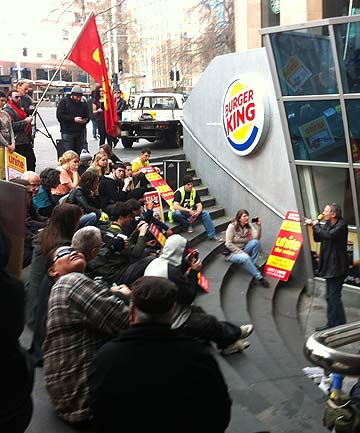 Burger King protest