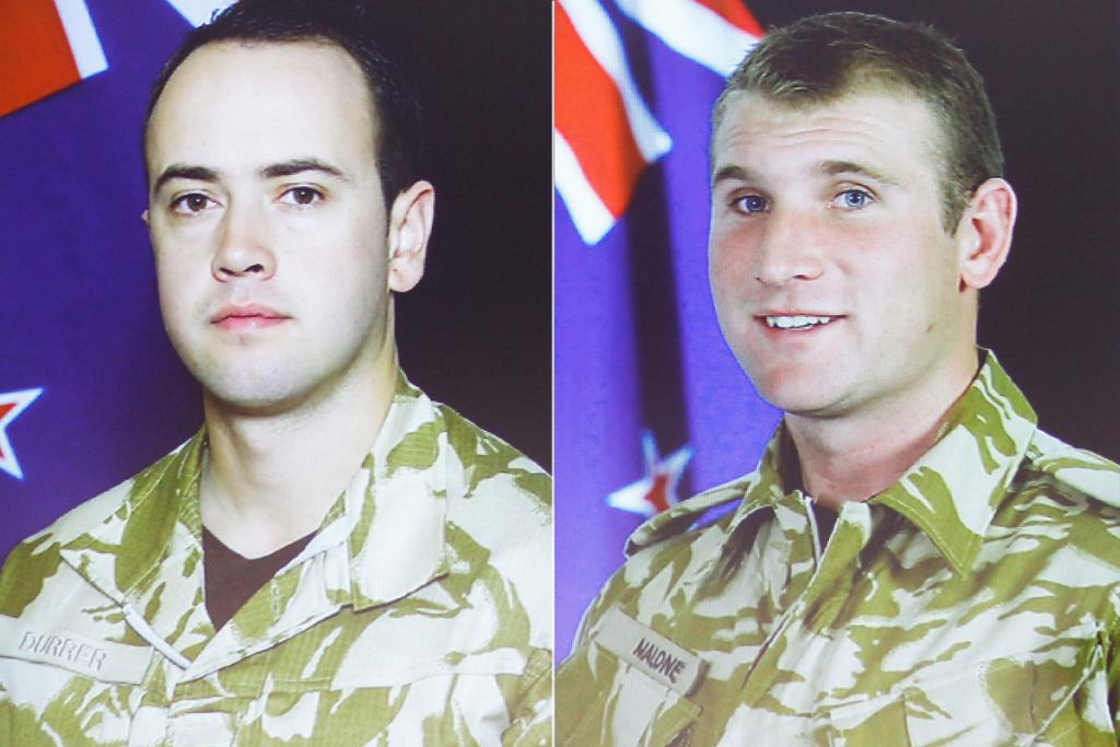 Lance corporal Pralli Durrer, 26, and lance corporal Rory Malone, 26. Killed in a firefight in north eastern Bamiyan province, August 2012.