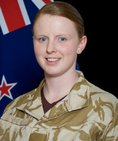 Jacinda Baker joined the army as a medic.