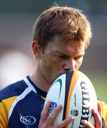 "ON THE COMEBACK TRAIL: Former Wallaby Clyde Rathbone is the ""fittest he's ever been"" and back training, hoping to gain a place in the Brumbies squad for 2013."