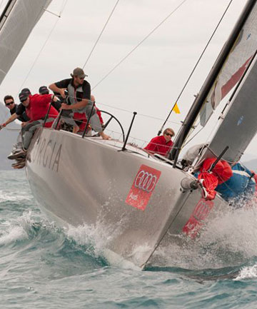 Team Georgia Racing, part of the Kiwi team struggling in the South Pacific Trophy, has not had the strongest regatta.