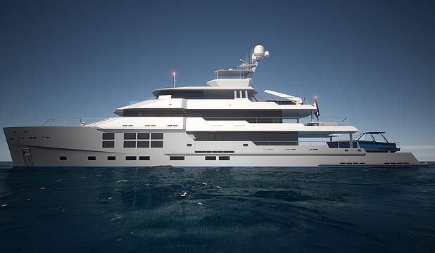 FINAL PRODUCT: A design image of the yacht Star Fish which was damaged in the fire.