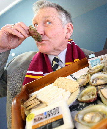 "TASTE CONTROL: National MP Eric Roy does some quality control before top Southland produce is sent to a ""world famous"" Southland Party in Parliament next month."