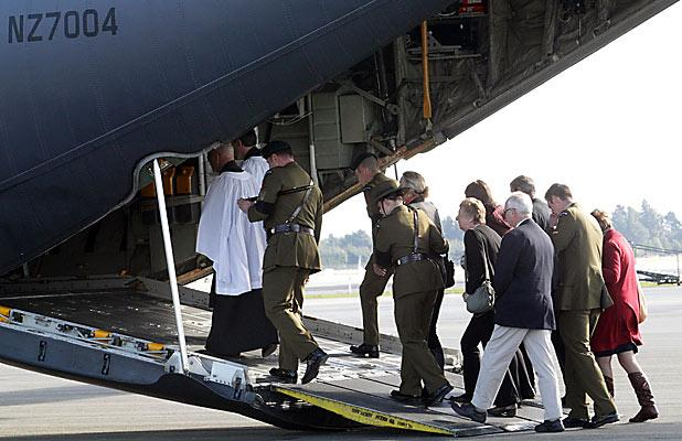 Families go on board the Hercules