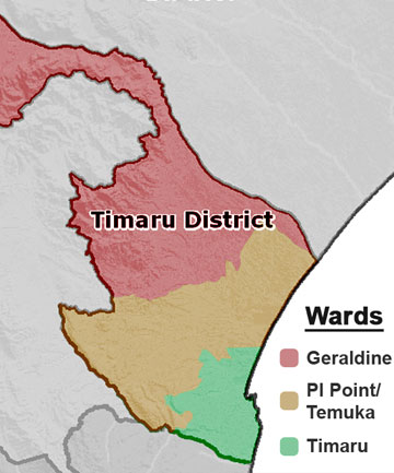 timaru district wards