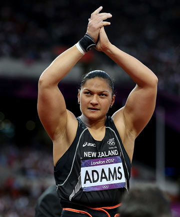 WINNING FORM: Valerie Adams threw a Lausanne meeting record 20.95m to win the women's shot put at the latest Diamond League event.