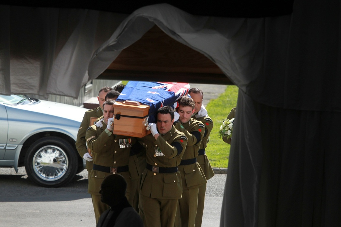 Farewell for Corp Luke Tamatea, Lance Corp Jacinda Baker and Private Richard Harris