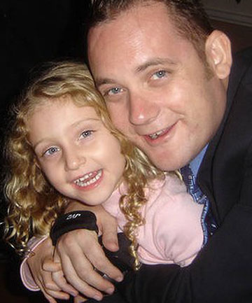 DADDY'S GIRL: Michael Scholfield and his daughter, Janni.