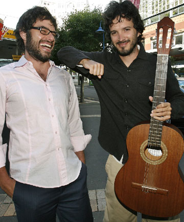 Helping the kids: Flight of the Conchords' charity song Feel Inside (And Stuff Like That) was inspired by Wellington school children.