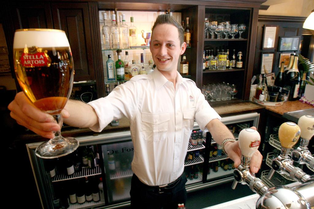 PERFECT POUR: Tom Loots is heading for Montreal to represent New Zealand in the Stella Artois Draught Master event.