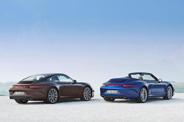Porsche 911 Carrera 4 and Carrera 4S coupe and cabriolet.