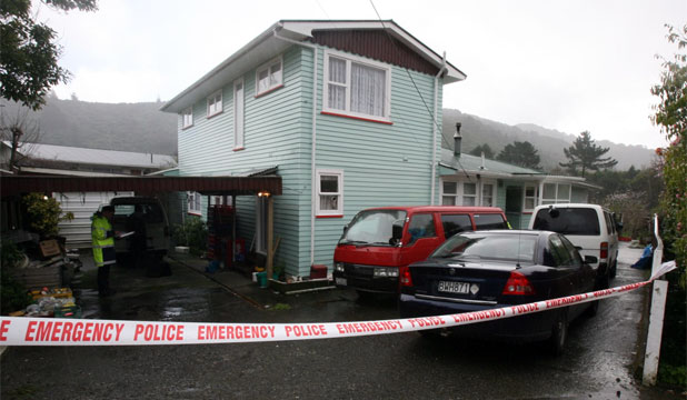 POLICE SCENE: A Wainuiomata house was robbed early this morning while the couple was tied up inside.