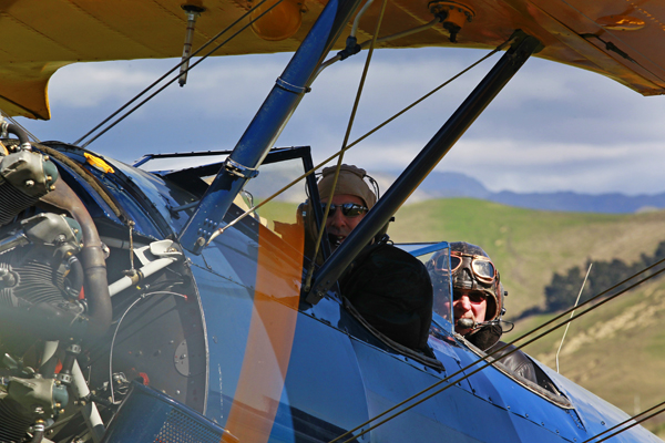 Paul Maxfield and pilot Kevin Wilkey.