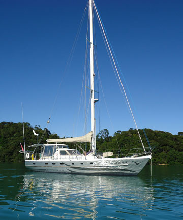 Now back in the water, Windflower is taking John and Lyn around the islands of the south western pacific.