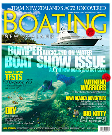 Riviera's new 75-foot flybridge flagship graces the cover of our bumper 192-page Auckland On Water Boat Show issue.