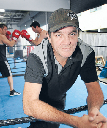 NERVOUS: Thai boxing fight organiser Norm (''The Storm'') Graham says every time he runs a show, it weighs on him heavily.