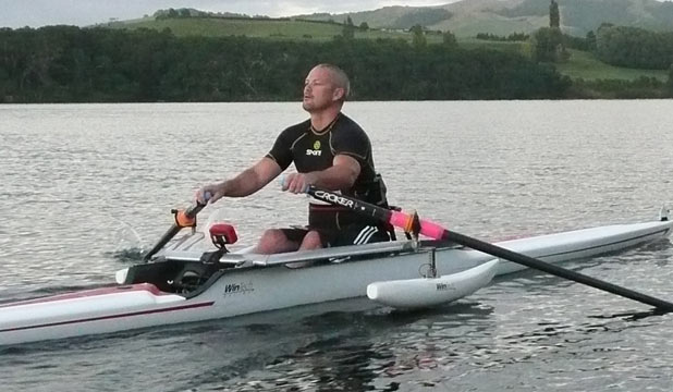 OUT ON HIS OWN: Danny McBride is New Zealand's lone Paralympics rower but he is hoping to continue on from New Zealand's dominant Olympics display at Eton Dorney.