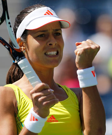 2f9362163 MOVING ON UP  Ana Ivanovic blew by Swede Sofia Arvidsson 6-2 6-