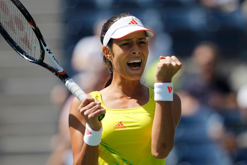 Ana Ivanovic blew by Swede Sofia Arvidsson 6-2 6-2 in 64 minutes to reach the third round at the US Open.