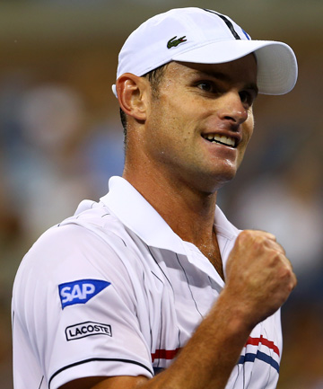 MOVING ON: Andy Roddick held retirement at bay for at least another round after beating Bernard Tomic.