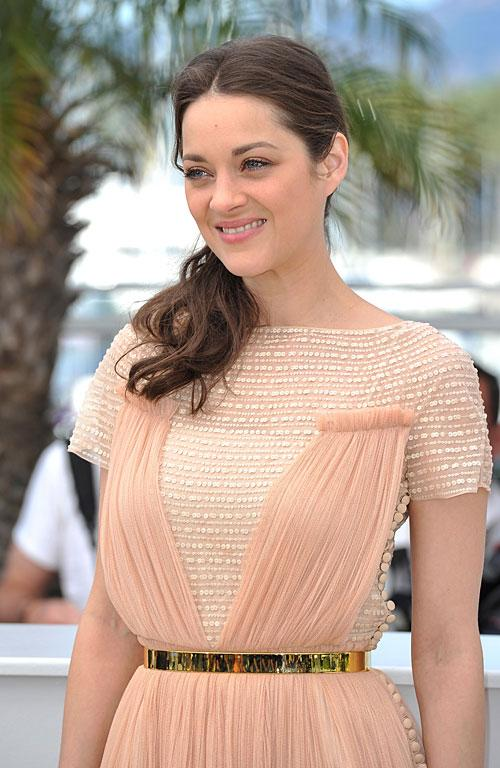 French actor Marion Cotillard's hair is bulked out with texture