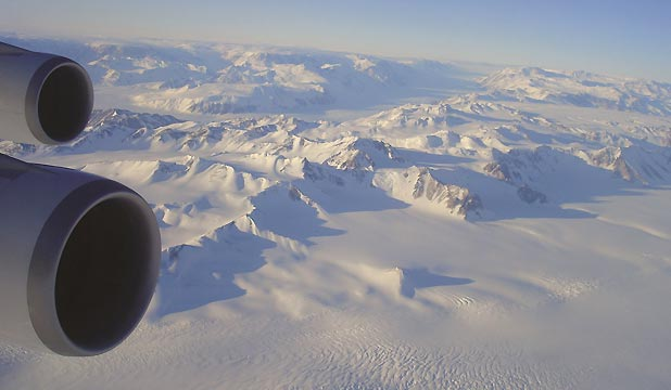 Antarctica flight