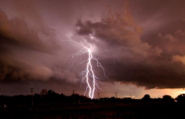 AMAZING SIGHT: Peter Walker took this image in Halswell looking south tonight.