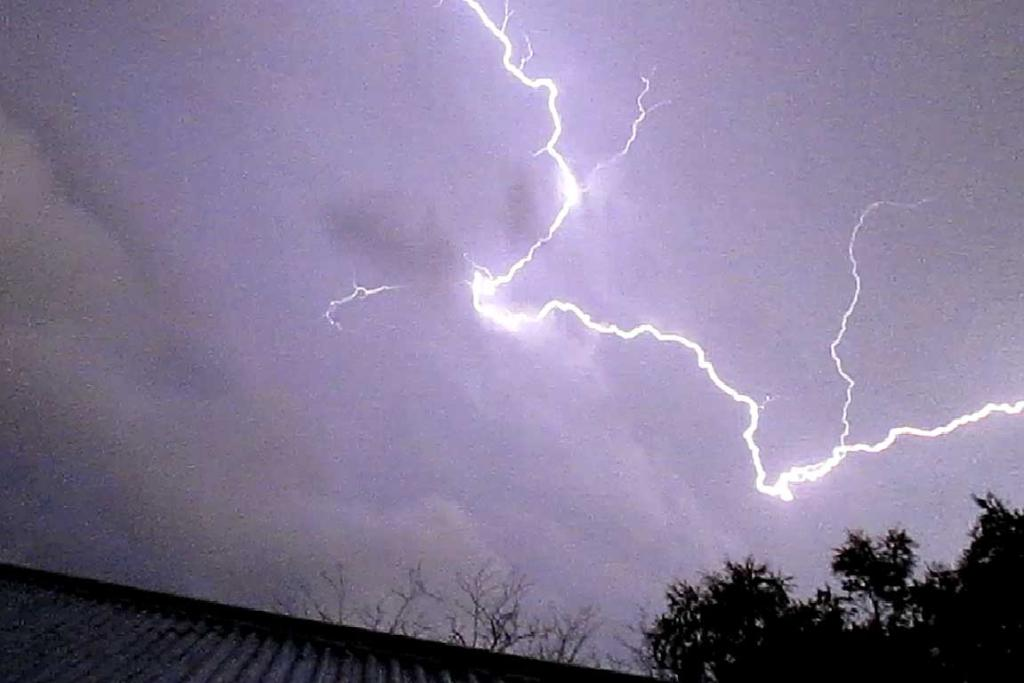 BRIGHT LIGHT: An electrical storm struck Christchurch on Tuesday evening.