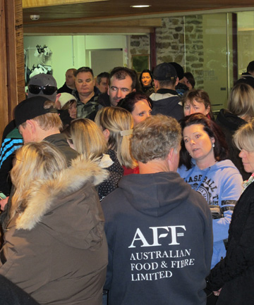 Fans queue to get their hands on highly sought after tickets to the NZ Ice Hockey League final between the Southern Stampede and Canterbury Red Devils on Saturday night.