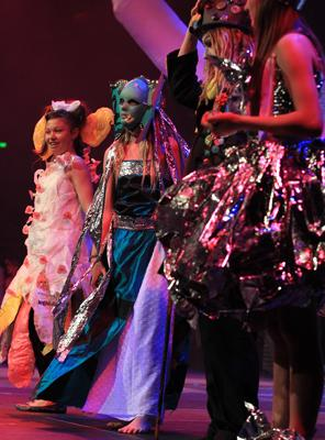 PERFORMANCE: The Wearable Arts section at 2012 Cultural Festival.