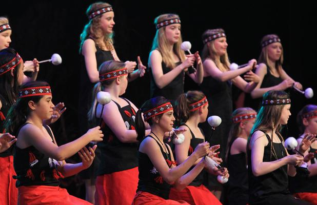 EXPRESSION: Christchurch South Intermediate had Maori and Pacific Island groups on stage.