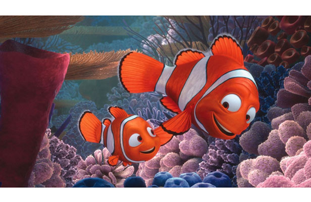 NEW WAVE: Nemo, left, voiced by Alexander Gould, and Nemo's father Marlin, voiced by Albert Brooks, return to the screen today in 3-D