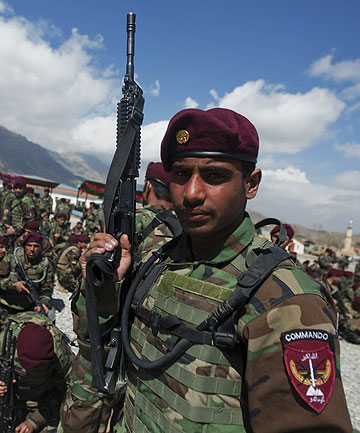 An Afghan commando from Afghan National Army.